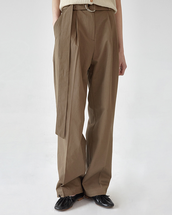 wonder D-ring wide linen pants