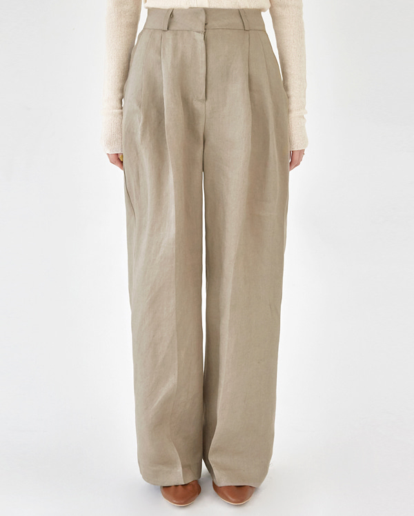 cover pintuck linen slacks (s, m)