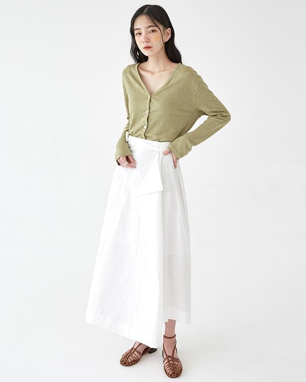 pastel linen cardigan T