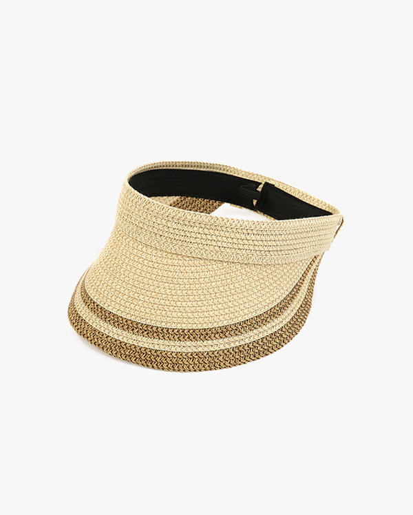 hey two tone straw hat