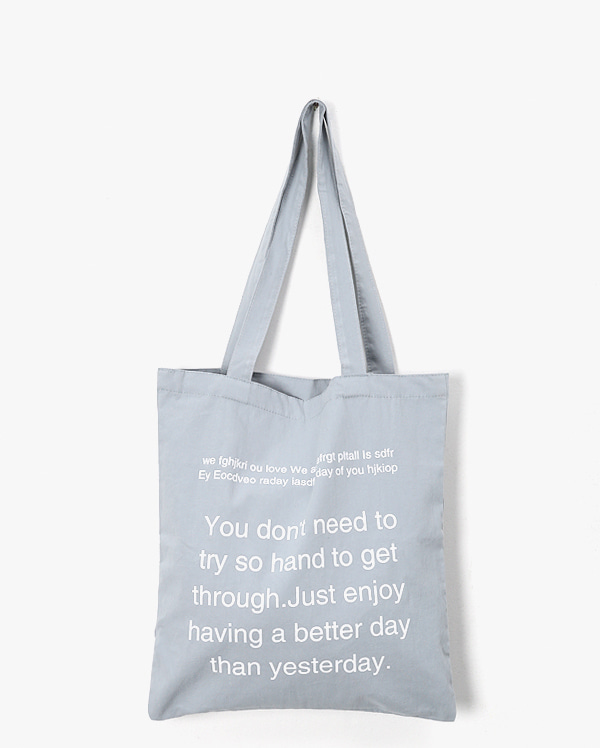 colorful lettering eco bag