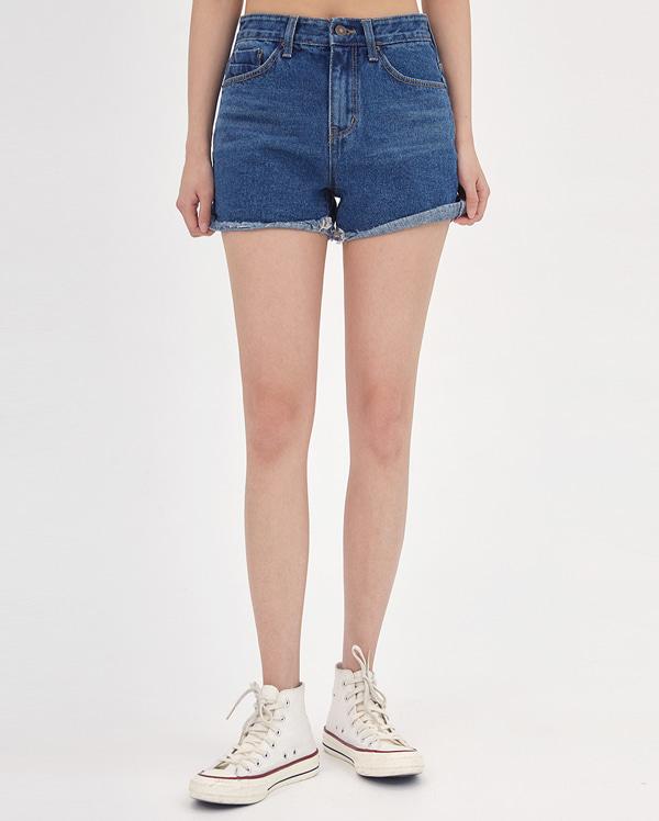 poin denim short pants (s, m, l)
