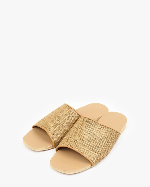 the beach straw slipper (s, m, l)
