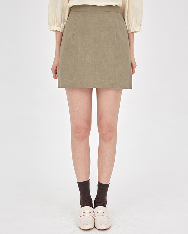 blossom linen mini skirts
