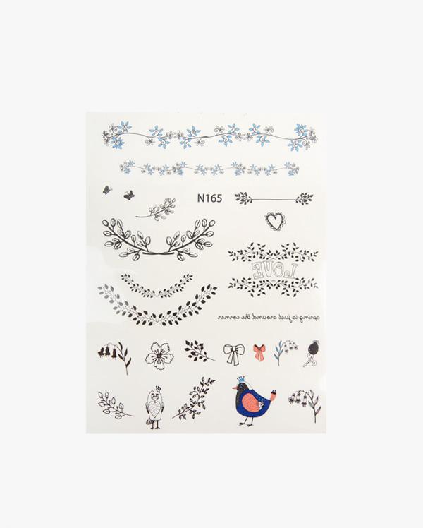 bird tattoo sticker