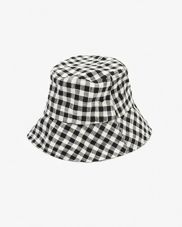 glam check bucket hat