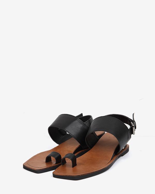 square toe sandal (2 colors)