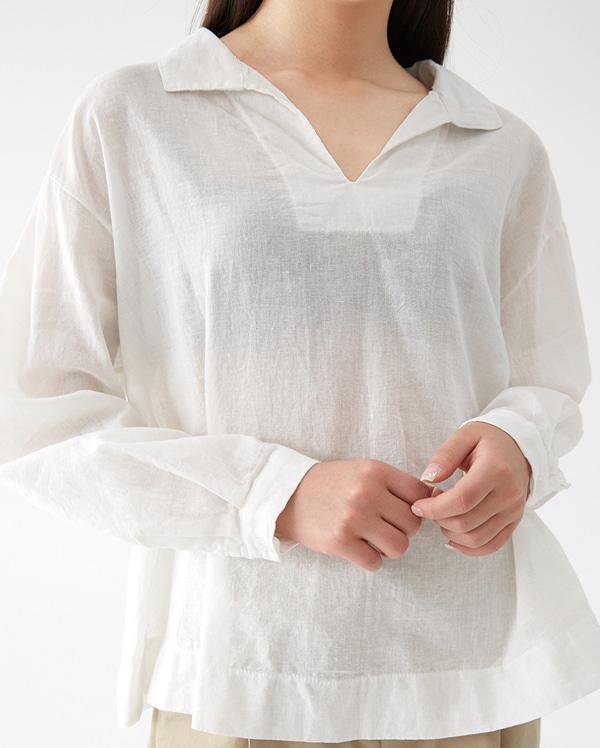 halona lan linen blouse