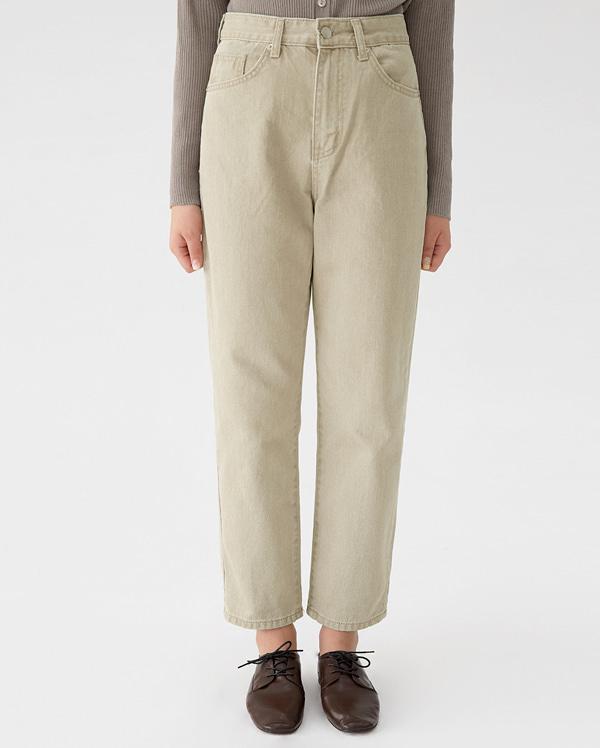 off straight cotton pants (s, m)