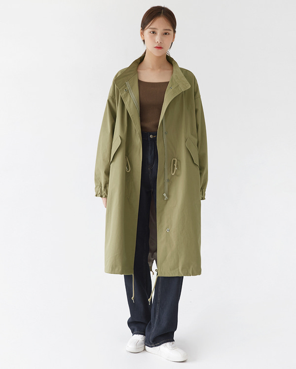 simple sandy trench jumper