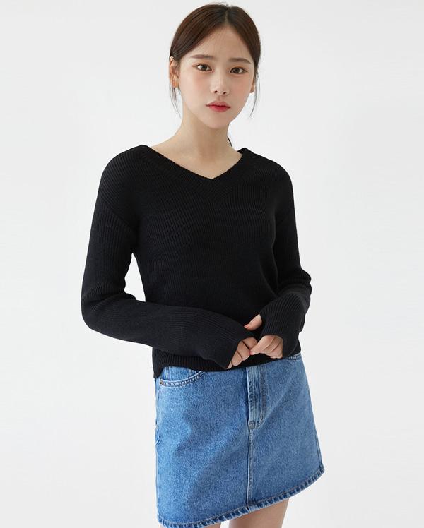 casey v-neck golgi knit