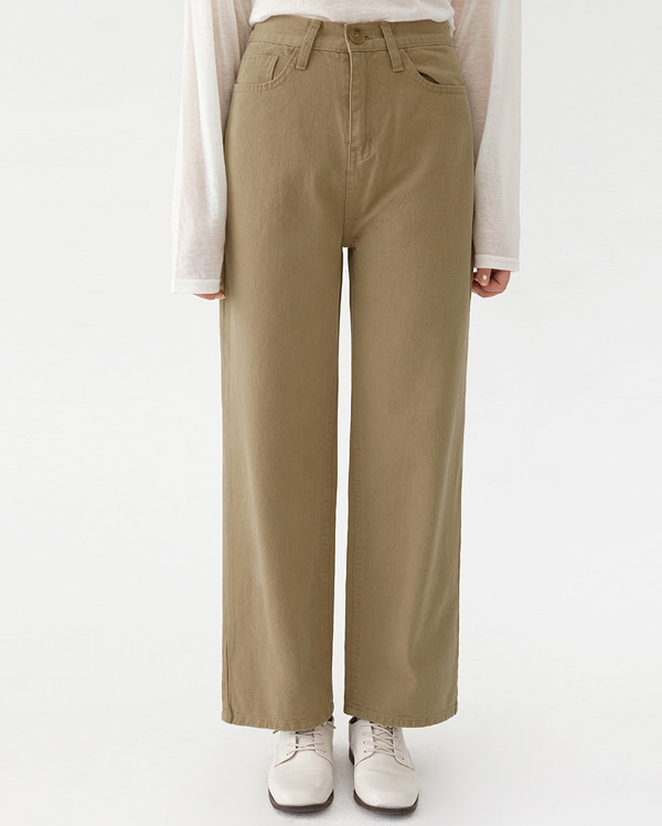 first straight cotton pants (s, m, l)