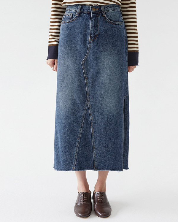 farrell long denim skirts (s, m, l)