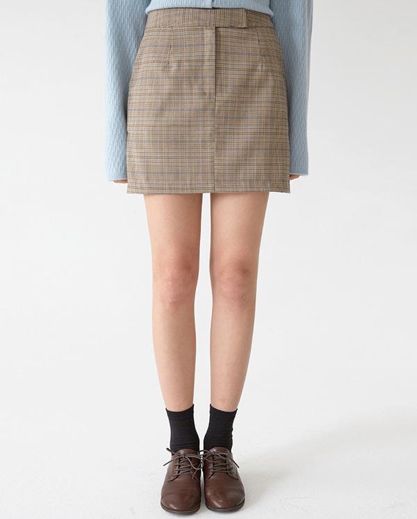 nomal check mini skirts (s, m)