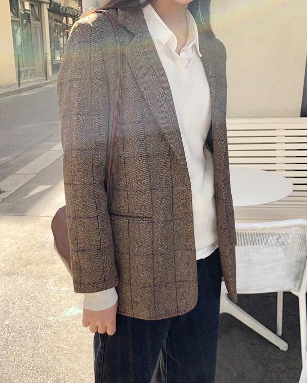 baby classic check jacket