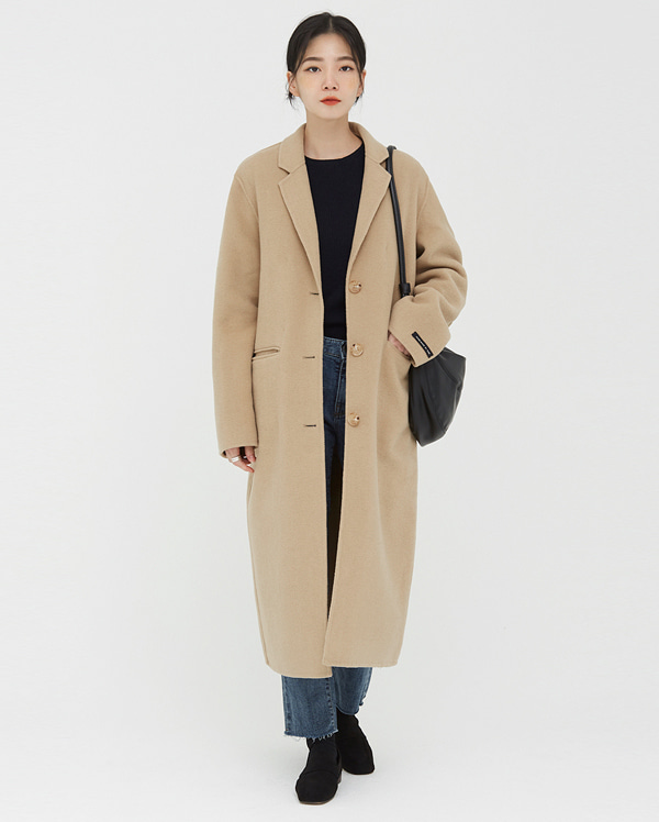 acre belted wool handmade coat