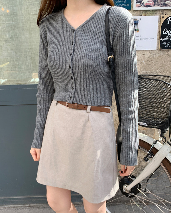 meringue thin belt skirt (s, m)