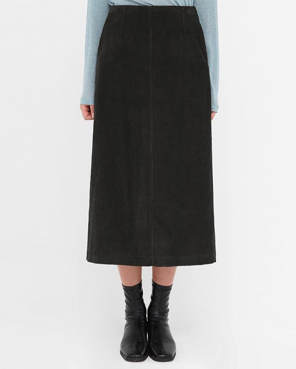 corduroy zipper a line skirt (s, m)