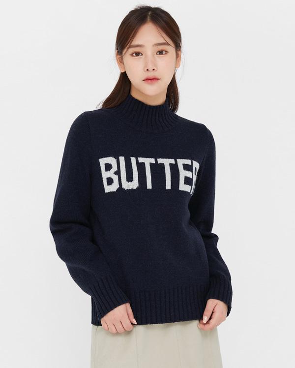 than butter turtleneck wool knit