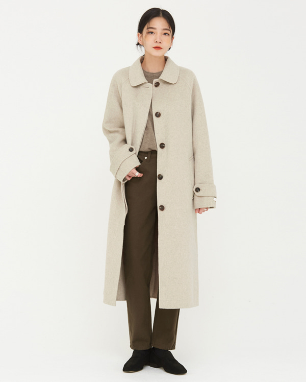 graceful wool handmade coat