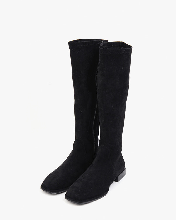 soft suede semi-long boots (225-250)