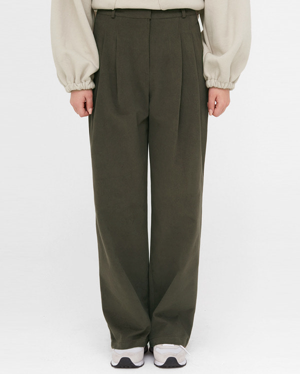 voni pintuck wide cotton pants (s, m)