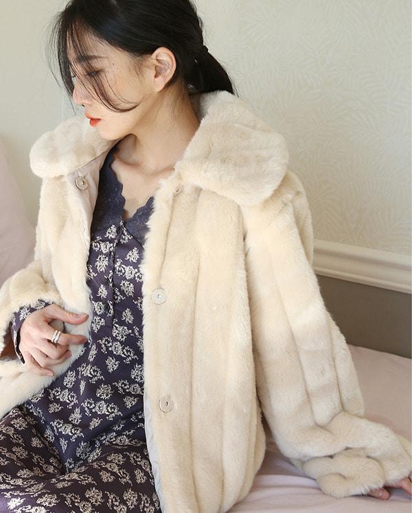 a feminine line fur jacket