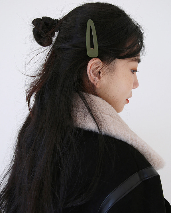 wood color hair pin