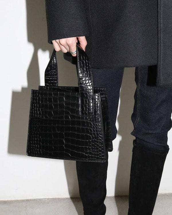 unique leather square bag