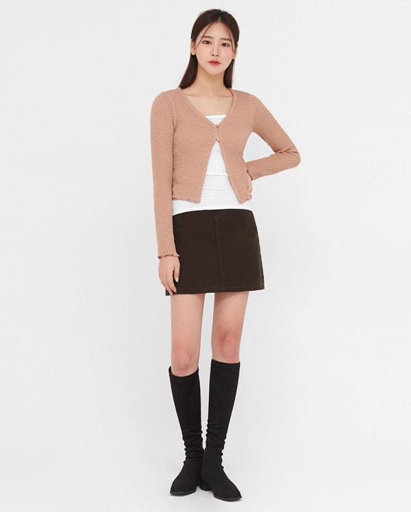 the girlish button cardigan