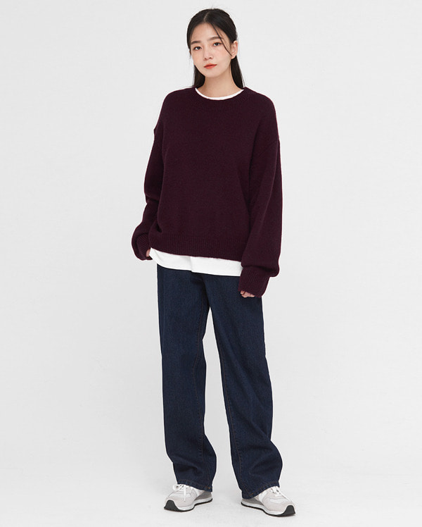 kid thick mohair round knit