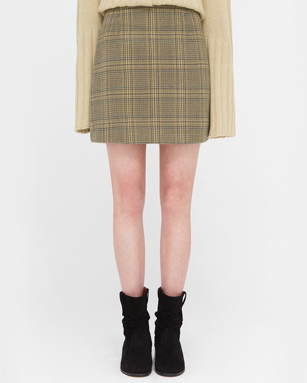 and fall check mini skirts (s, m)