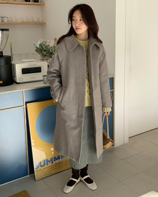 shu napping wool long coat