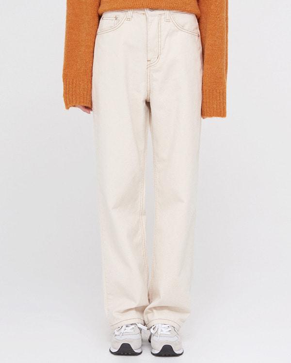 roll stitch napping straight pants (s, m, l)