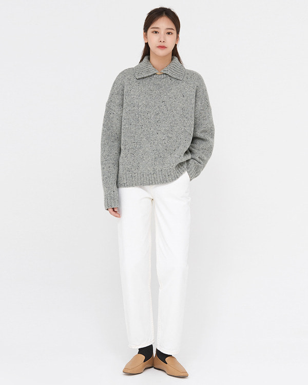 cell various wool collar knit