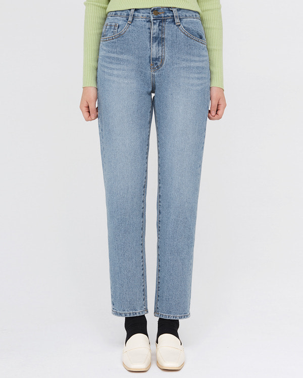 allow silm line denim pants (s, m)