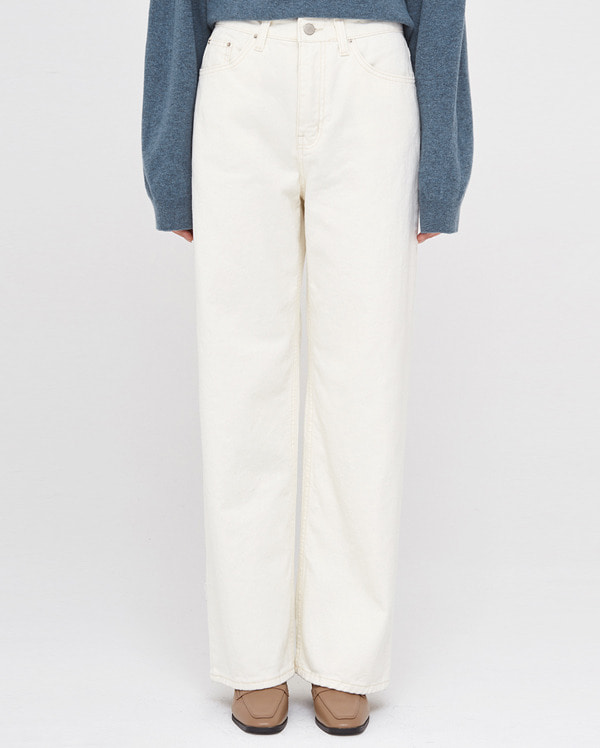 forever straight cotton pants (s, m)