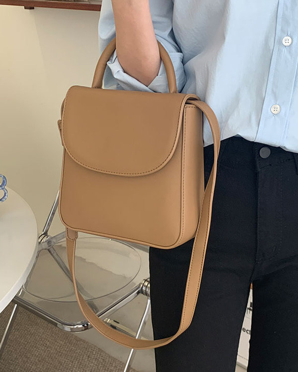 plain two way shoulder bag