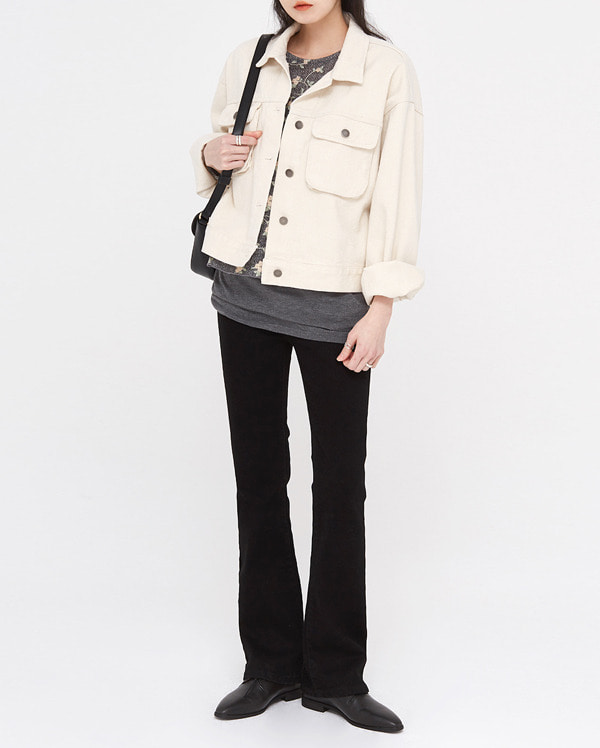 in casual cotton short jacket