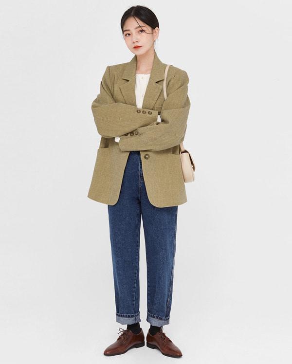 crom pintuck line jacket