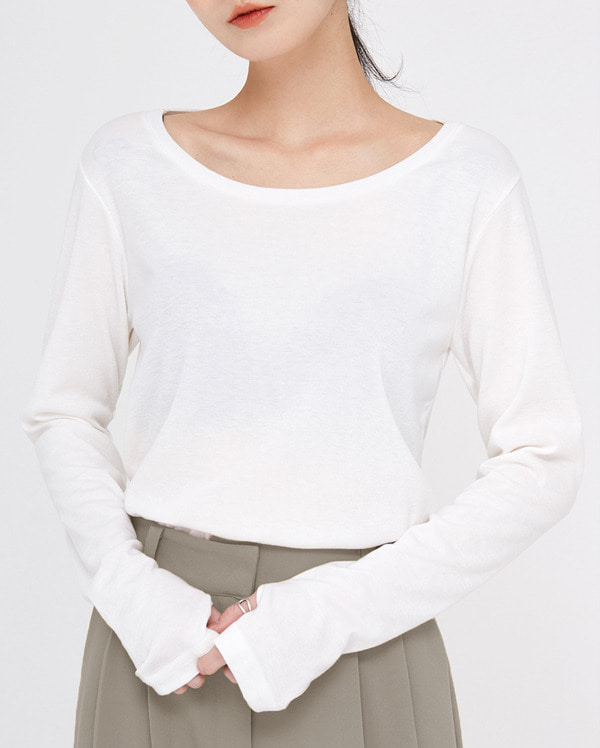 lay warmer u-neck T