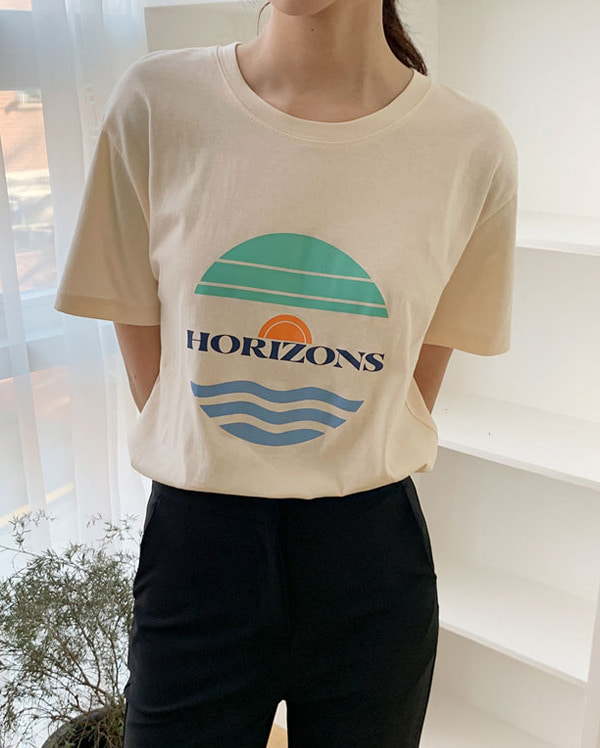 uni horizons half sleeve T