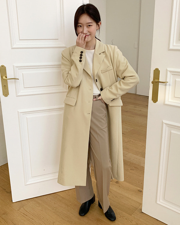 butter classic single long jacket