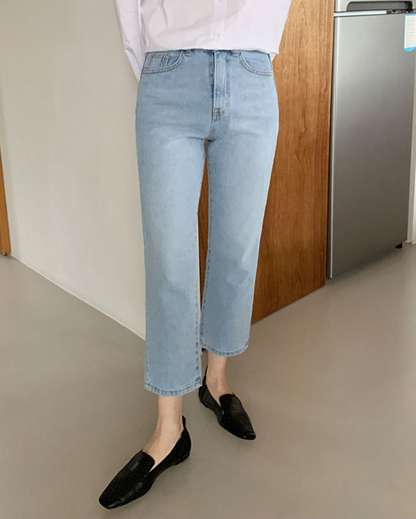 sky light denim pants (s, m)