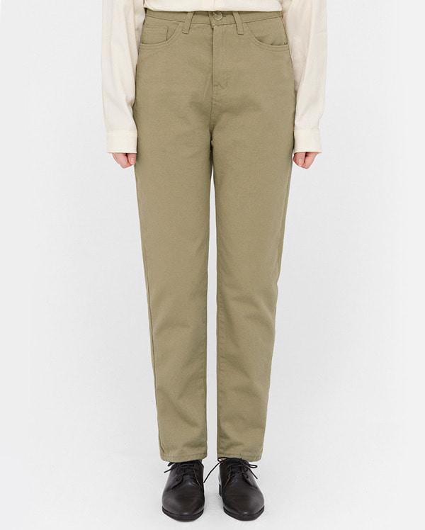 min straight fit cotton pants (s, m, l)