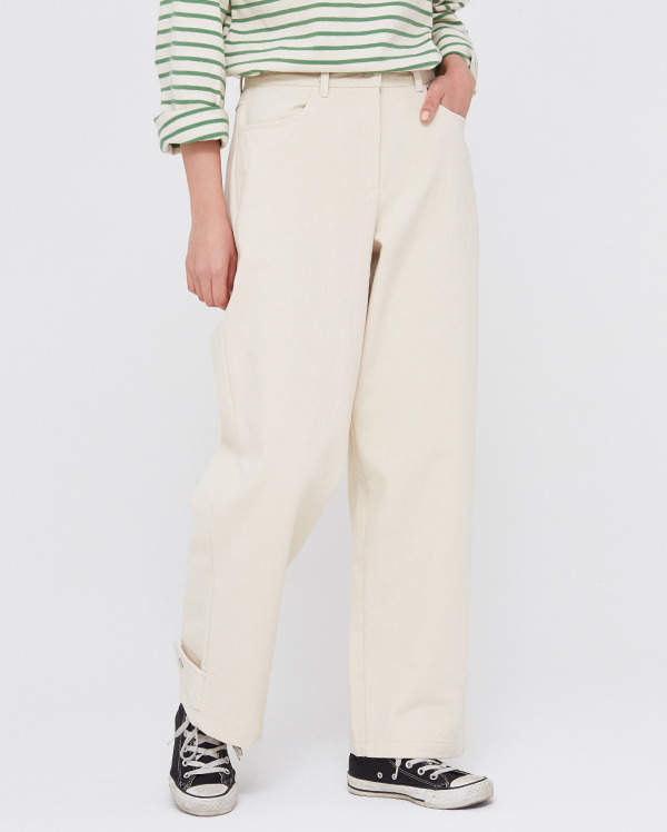 clean back button pants (s, m)