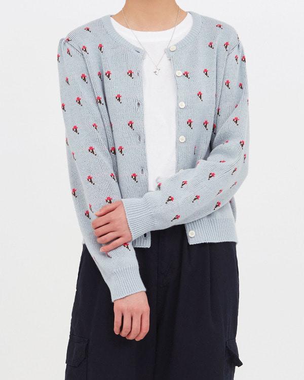 jane floral cardigan