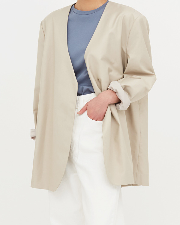 for no collar jacket