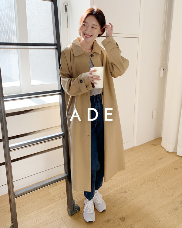 cotton single long coat