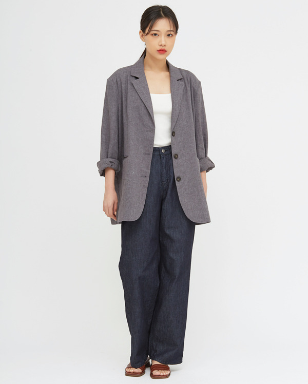 mood mannish linen jacket